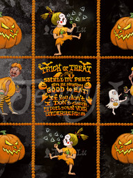 Patterns for Trick-or-Trick Halloween Art Collection