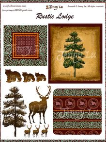Rustic Lodge Art Collection
