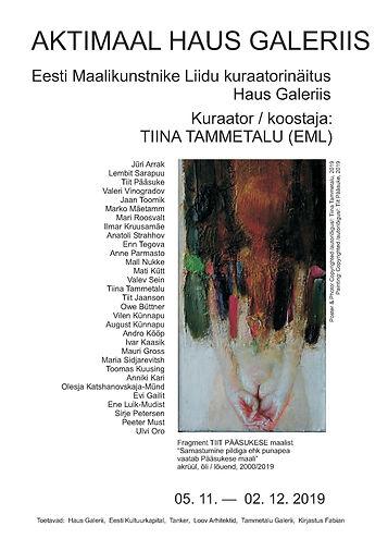 Aktimaal Haus Galeriis_plakat_tammetalu.