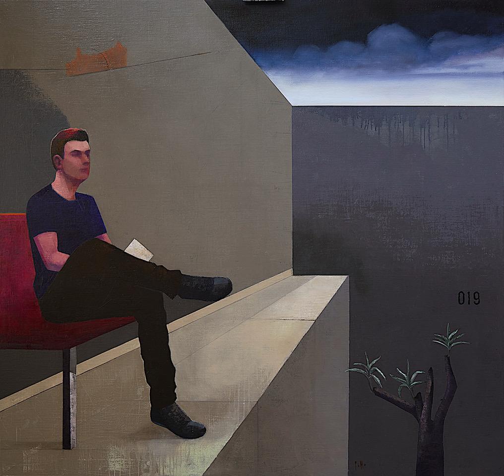 Istuv mees