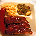 Pork Ribs & Sausage Plate With Two Sides (price per person)