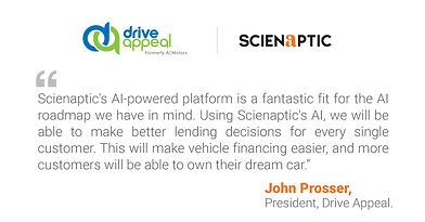 Driving Minnesota: Drive Appeal to Deploy Scienaptic's AI Platform to Enhance Credit Accessibility
