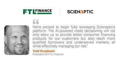 FTL Finance goes live with Scienaptic