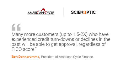 American Cycle Finance Selects Scienaptic's AI-Powered Credit Decisioning Platform to Grow Second-Chance Motorcycle Loans Business