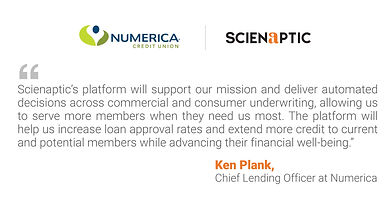 Numerica Credit Union Chooses Scienaptic to Empower AI Credit Decisioning Across Loan Products and Services