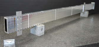 ILL, Borated Aluminium Neutron Guide, Free standing, self evacuated neutron guide made of borated Aluminium