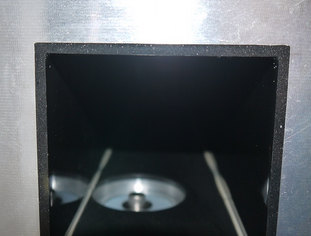 Integrated boron shielding in a vacuum housing.