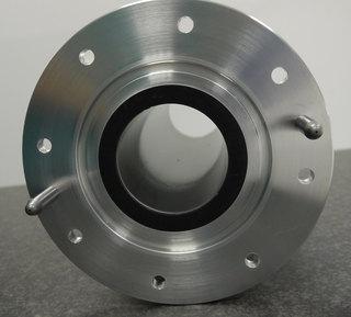 Round vacuum tube with boron shielding.