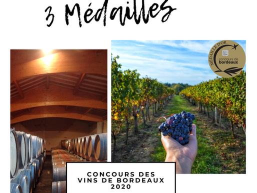 Razzia de médailles au Concours des Vins de Bordeaux