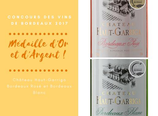 Deux médailles au concours de Bordeaux