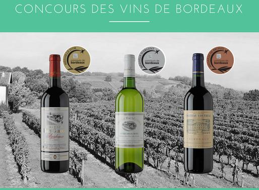 Trois médailles au concours des vins de Bordeaux 2018