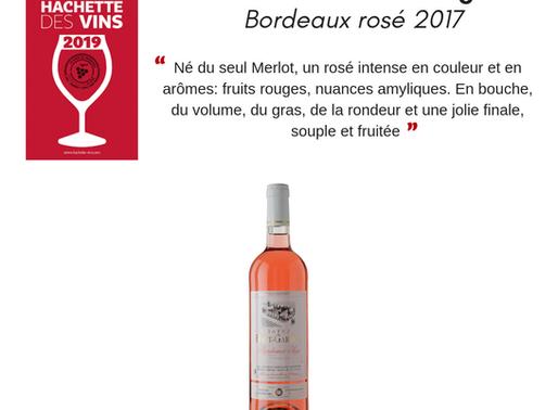 Notre rosé 2017 dans le guide hachette