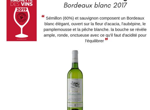Notre Bordeaux blanc cité dans le guide hachette