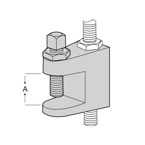 25MM Wedge C-Clamp HDG