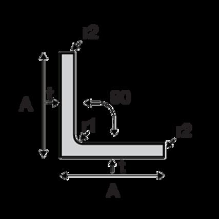 Angle Bar 2X2X5MMX6MTR