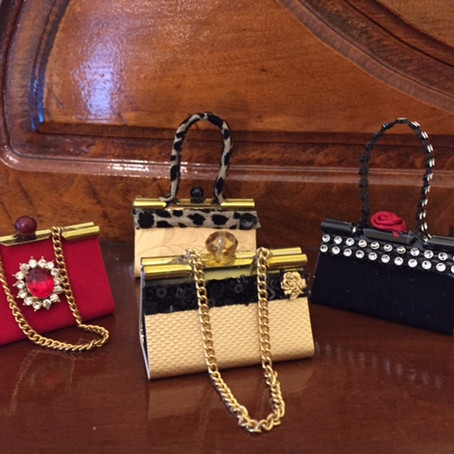DIY: Binder clip purse ornaments