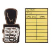 Library card/Stamp Pin
