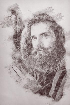 Illustration Bearded Man