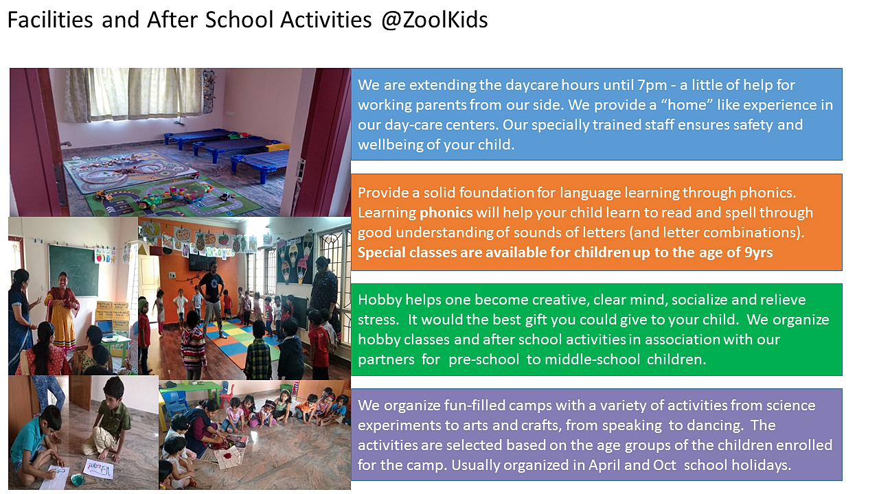 best kindergarten for overall development daycare at zoolkids daycare