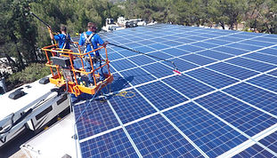 commercial solar pane cleaning
