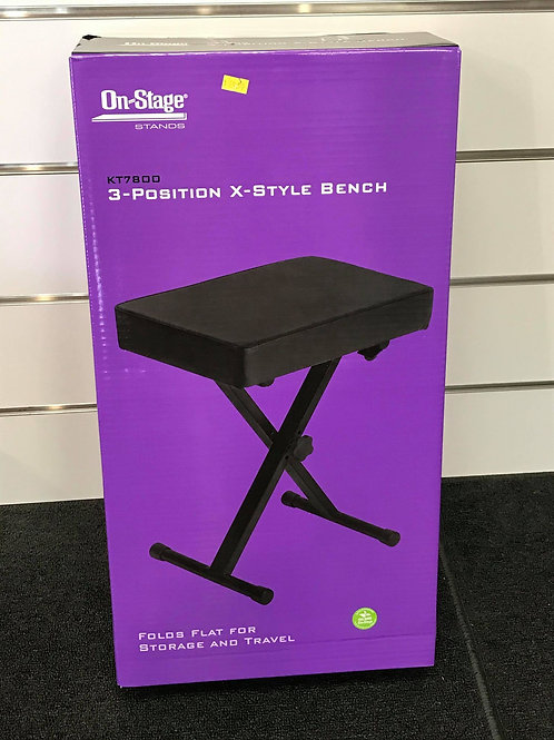 On-Stage KT7800 3-Position X-Style Bench