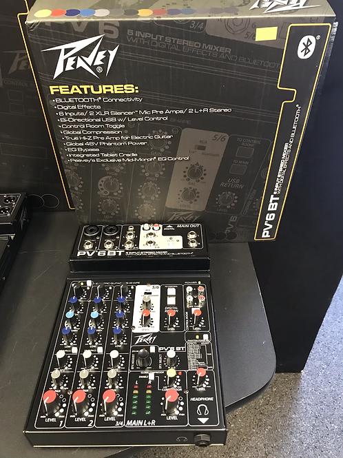 Peavey PV6 BT 6-Input Stereo Mixer