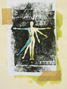 Vitruvian Woman in Colour