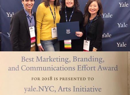 arts@yale.NYC Wins AYA Excellence Award