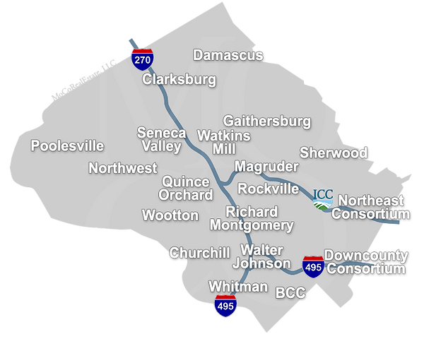 map of montgomery county including schools