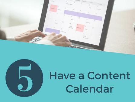Social Media Tip: Have a Content Calendar