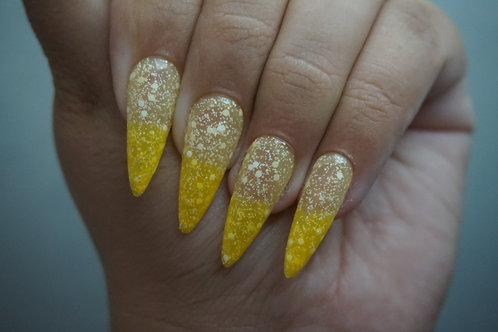Bright Yellow to Soft Yellow with Glitter