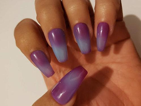 Purple to Light Blue