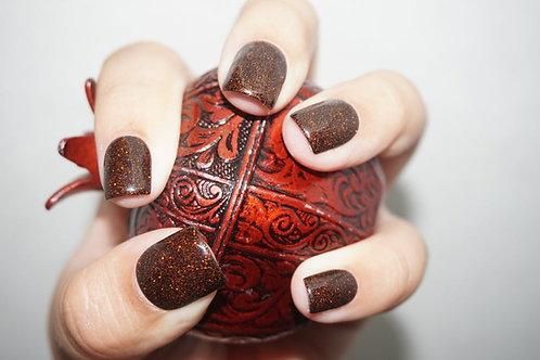 Halloween Black and Burnt Orange Glitter