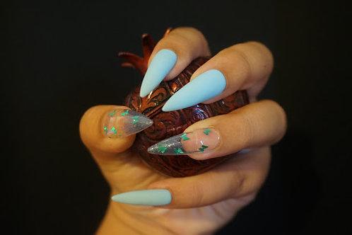 Matte Sky Blue Butterflies
