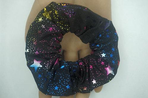 Rainbow Stars Handmade Scrunchie