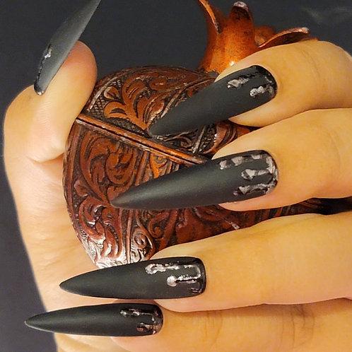 Drip in Metallic and Black