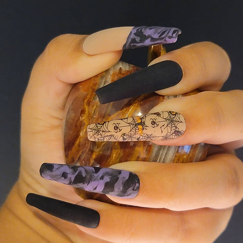 Halloween Purple Marble