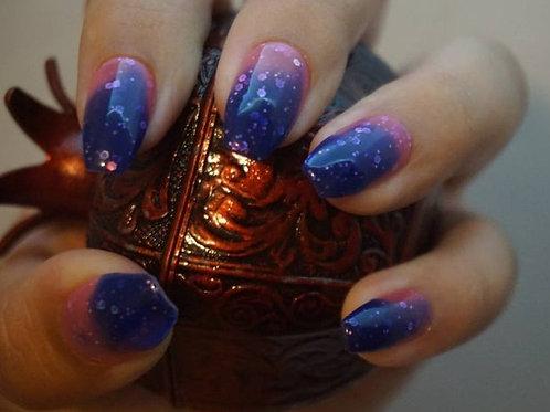 Glitter Dark Purple to Pink