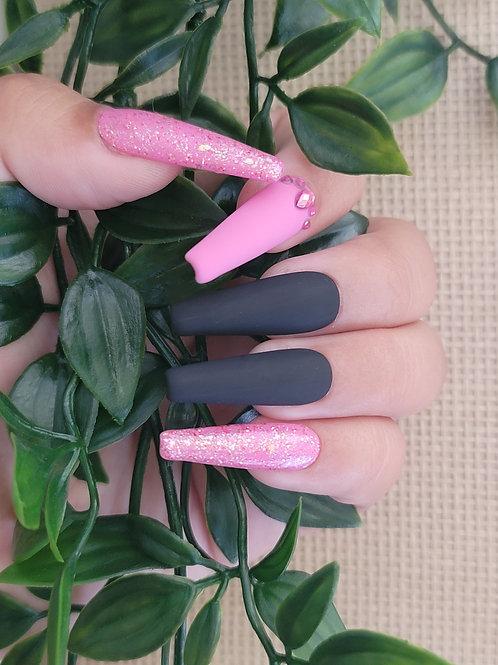 Black, Pink and Glitter Matte/Glossy