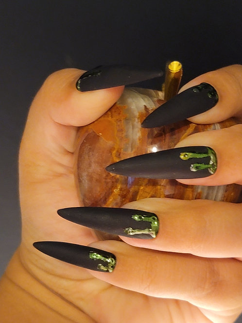 Drip in Green and Black