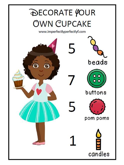 Cupcake decorating math activity