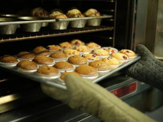 Raspberry, white chocolate muffins