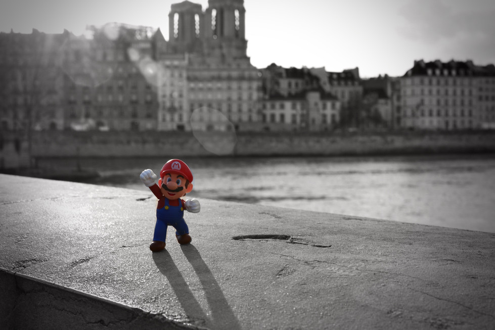 Mario va refaire la plomberie de Notre Dame