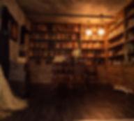 スタジオ内の書庫写真