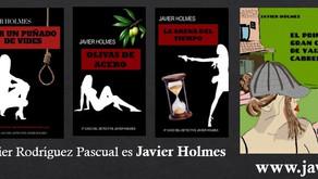 Reeditadas las cuatro primeras novelas de Javier Holmes