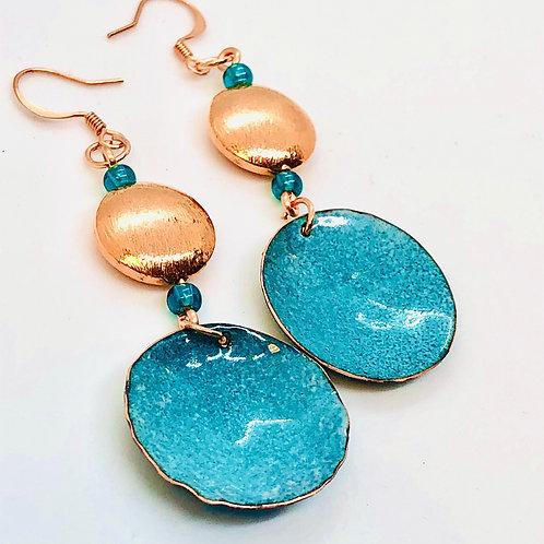 Pelagic blue ear rings