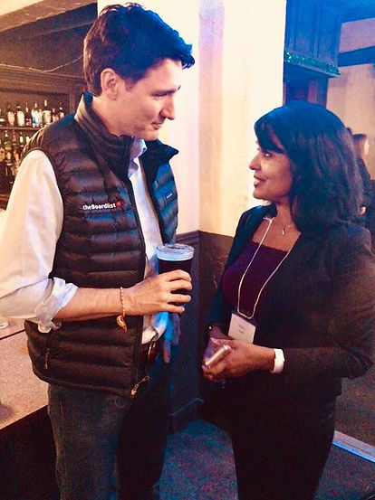 Justin Trudeau Shubha Sandill Federal Liberal Nomination Contestant
