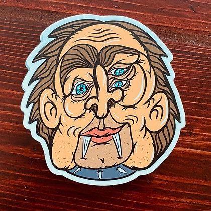 Weird Heads Creeper Sticker