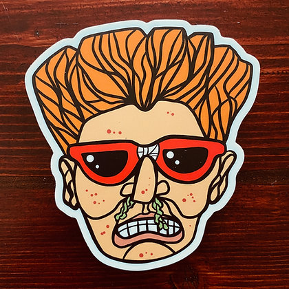 Weird Heads Booger Boy Sticker