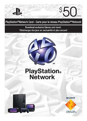 Playstation Gift Card $50